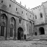Le palais des papes : cour d'honneur by Cilions - Avignon 84000 Vaucluse Provence France