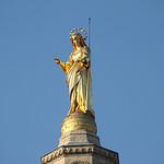 La statue dorée de Notre Dame des Doms by gab113 - Avignon 84000 Vaucluse Provence France