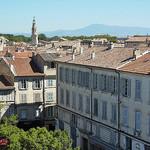 Vue au dessus des toits d'Avignon vers le Mont-Ventoux by Toño del Barrio - Avignon 84000 Vaucluse Provence France