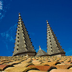 Sails on the roof of the Pope Palace by  - Avignon 84000 Vaucluse Provence France