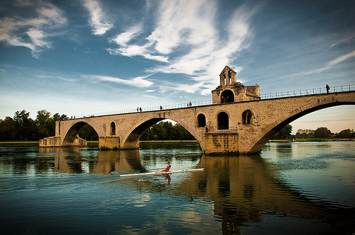 The bridge to nowhere... Pont d'Avignon by ethervizion
