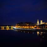 Vue de nuit sur Avignon - Heure bleue avignonaise par Boccalupo - Avignon 84000 Vaucluse Provence France