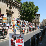 Festival d'Avignon : les rues retapisses d'affiches by  - Avignon 84000 Vaucluse Provence France