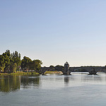 Le Pont d'Avignon pos sur le Rhne by  - Avignon 84000 Vaucluse Provence France