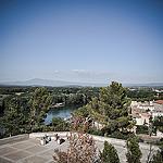 Vu du Rocher des doms sur le Rhône et le Mont-Ventoux by  - Avignon 84000 Vaucluse Provence France