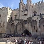 Entrée du Palais des Papes et ses tourelles by  - Avignon 84000 Vaucluse Provence France