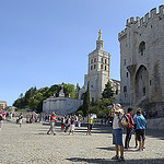 Provence - Avignon : place du palais des papes par  - Avignon 84000 Vaucluse Provence France