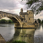 Le Pont d'Avignon sur son rhne by  - Avignon 84000 Vaucluse Provence France
