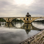 Le Pont d'Avignon de face by  - Avignon 84000 Vaucluse Provence France