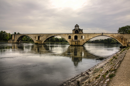 Le Pont d'Avignon de face by Billblues