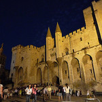Palais des papes de nuit by  - Avignon 84000 Vaucluse Provence France