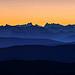 La dentelles du relief des alpes depuis le Mt Ventoux. by DBPhotographe - Bédoin 84410 Vaucluse Provence France