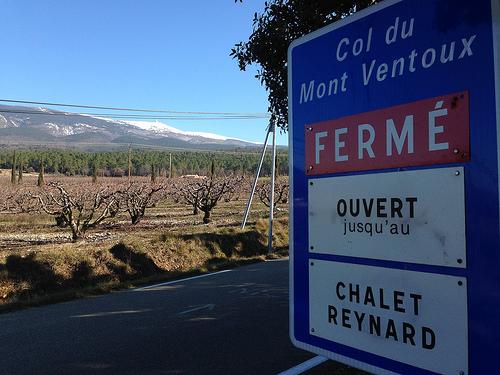 Col du Mont-Ventoux fermé aux voitures by gab113