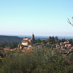 The village of Bédoin and his church par  - Bédoin 84410 Vaucluse Provence France