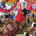 Baskets for sale on Bédoin market par  - Bédoin 84410 Vaucluse Provence France