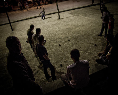 Partie de Boules in Bedoin by Jonny Whiting