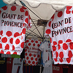 Marché de bédoin : maillot de cycliste  par gab113 - Bédoin 84410 Vaucluse Provence France