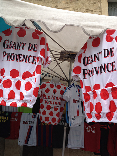Marché de bédoin : maillot de cycliste  by gab113
