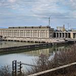Usine hydroélectrique André-Blondel, pont et barrage par  - Bollene 84500 Vaucluse Provence France