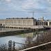 Usine hydroélectrique André-Blondel, pont et barrage par Rémi Avignon - Bollene 84500 Vaucluse Provence France
