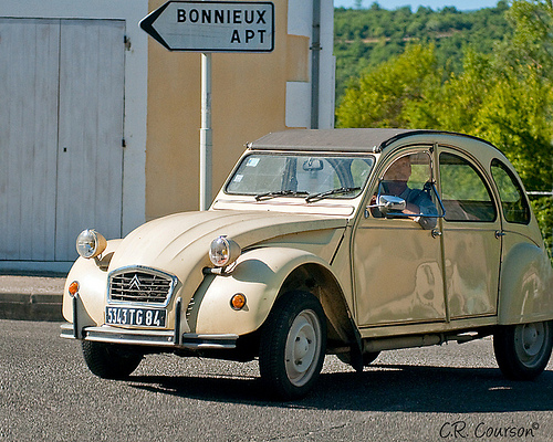 Citroen - 2CV - in Provence by C.R. Courson