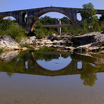 The Pont Julien / The Roman bridge by  - Bonnieux 84480 Vaucluse Provence France