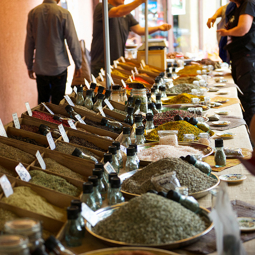 Bonnieux Markets : spices by Ann McLeod Images