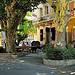 Place du village de Gigondas par Pierre Noël - Gigondas 84190 Vaucluse Provence France