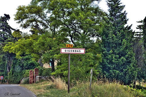 Entering Gigondas par C.R. Courson