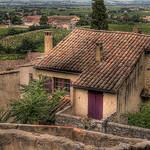View of Gigondas par C.R. Courson - Gigondas 84190 Vaucluse Provence France