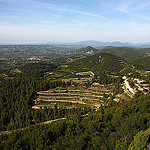 Panoramic view from the Belvedere by Sokleine - Gigondas 84190 Vaucluse Provence France