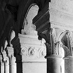 Cloister, detail by  - Gordes 84220 Vaucluse Provence France