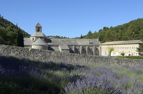 Abbaye de Sénanque au fond de son valon par Massimo Battesini