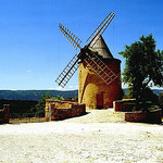 Windmill in Goult by  - Goult 84220 Vaucluse Provence France