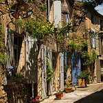 A street in Goult, Provence by ebenette - Goult 84220 Vaucluse Provence France