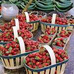 Strawberries - L'Isle-sur-la-Sorgue market by wanderingYew2 - L'Isle sur la Sorgue 84800 Vaucluse Provence France