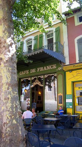 Café de France, l'Isle-sur-la-Sorgue par Olivier Colas