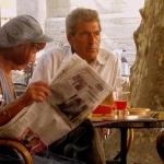 au Café de France, l'Isle-sur-la-Sorgue par Olivier Colas - L'Isle sur la Sorgue 84800 Vaucluse Provence France