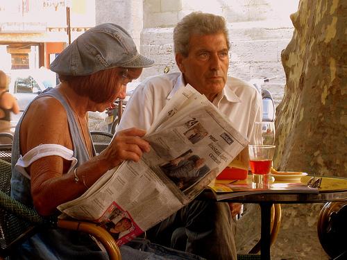 au Café de France, l'Isle-sur-la-Sorgue par Olivier Colas
