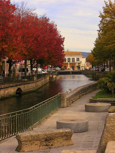 L'Isle-sur-Sorgue en automne par Super.Apple