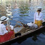 Marché flottant de l'Isle sur la Sorgue par Massimo Battesini - L'Isle sur la Sorgue 84800 Vaucluse Provence France