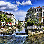 Les canaux de L'Isle Sur La Sorgue, Provence par  - L'Isle sur la Sorgue 84800 Vaucluse Provence France