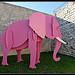 L'éléphant rose par Gramgroum - Lacoste 84480 Vaucluse Provence France