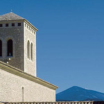Monastère de Sainte-Marie-Madeleine et le Mont-Ventoux by  - Le Barroux 84330 Vaucluse Provence France