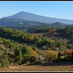 Le Mont Ventoux vu du Barroux by  - Le Barroux 84330 Vaucluse Provence France