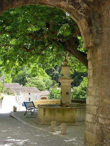 Place du village - Le Beaucet, Vaucluse by Olivier Colas