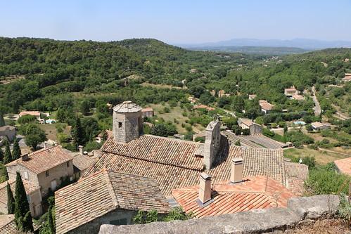 Les toits du village du Beaucet - vu depuis son Château par Gabriel Jaquemet