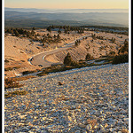 Le soleil se Couche sur les Flancs du Ventoux by  - Lacoste  Vaucluse Provence France