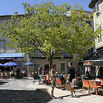 Provence - Terrasses de café à Lourmarin by Massimo Battesini - Lourmarin 84160 Vaucluse Provence France