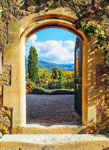 An Open Doorway of the Château de Lourmarin par philhaber